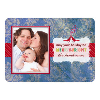 PixDezines blue natasha damask Card