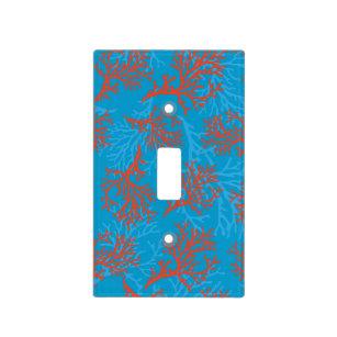 Pixdezines Blue Orange C Diybackground Color Light Switch Cover