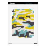PixDezines blue+yellow camo Skins For The iPad 2