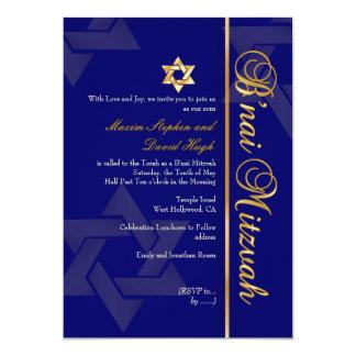 PixDezines Bnai Mitzvah/dark blue/gold/diy color Card