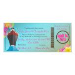 "PixDezines Boarding Pass/love boat 4"" X 9.25"" Invitation Card"
