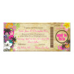 PixDezines Boarding Pass to Paradise 4x9.25 Paper Invitation Card