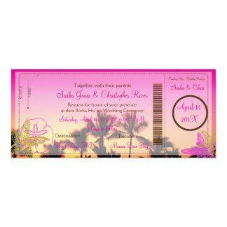PixDezines Boarding Pass+Tropical Sunset A-Bay Personalized Announcement