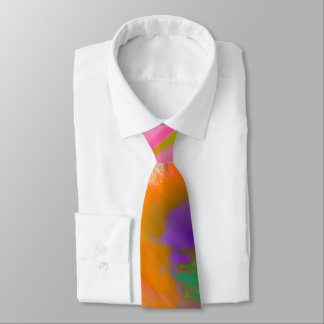 PixDezines Boho Abstract Watercolor Neck Tie