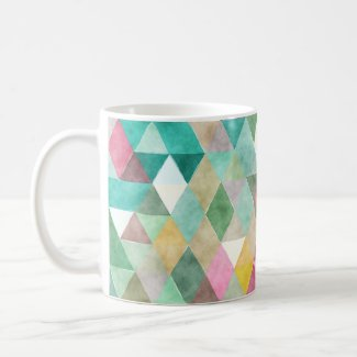 PixDezines Boho Geometric/adjustable triangles Coffee Mug