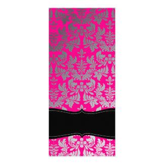 PixDezines Boroque Damask/Silver+Hot Pink Rack Card