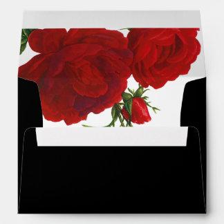 PixDezines Botanical/Red Roses/DIY color Envelope