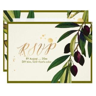 PixDezines Botanical RSVP/Olives/DIY Frame Card
