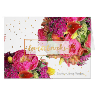 PixDezines bridal bouquet floral watercolor Card