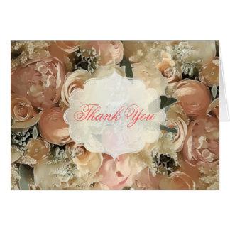 PixDezines bridal bouquet/vintage roses Card