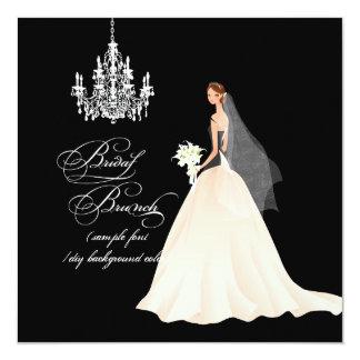 PixDezines bridal brunch/DIY occasion+color 5.25x5.25 Square Paper Invitation Card