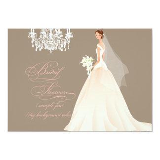 PixDezines bridal shower/DIY occasion+color 5x7 Paper Invitation Card