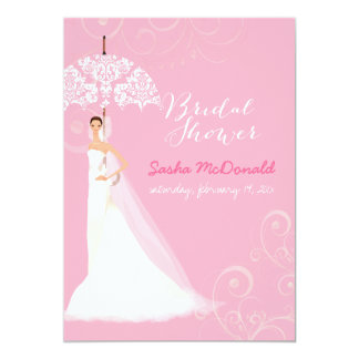 PixDezines bridal shower/lace umbrella Card