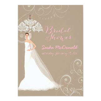 PixDezines bridal shower/lace umbrella/DIY bckgrnd Card