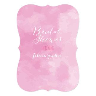 PixDezines bridal shower/pink digital watercolor Card