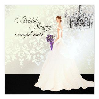 PixDezines Bride 2 B+purple calla Custom Invites