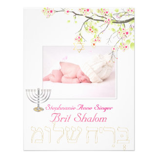 PixDezines brit shalom/cherry blossoms/diy color Personalized Invitation