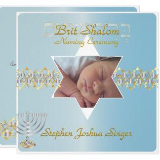 PixDezines brit shalom/photo frame+stars Card