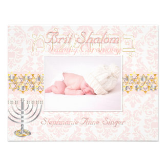 PixDezines brit shalom/photo frame+stars/diy color Personalized Invite
