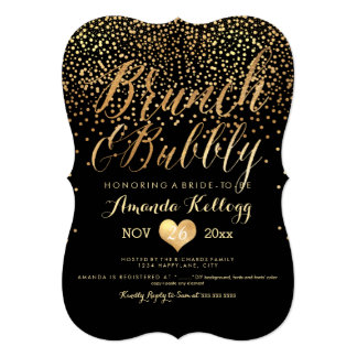 PixDezines Brunch & Bubbly Dazzled/Faux Gold Card