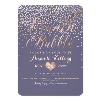 PixDezines Brunch & Bubbly Dazzled in Rose Gold Card