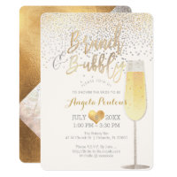 PixDezines Brunch Bubbly/Faux Silver Gold Confetti Invitation