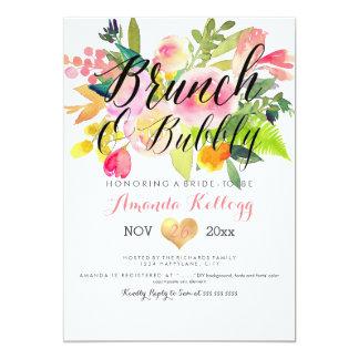 PixDezines Brunch & Bubbly Spring Floral Card