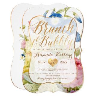 PixDezines Brunch & Bubbly Vintage Botanical Card