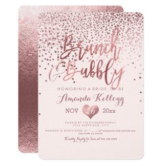 PixDezines Brunch N Bubbly/Rose Gold Confetti Card