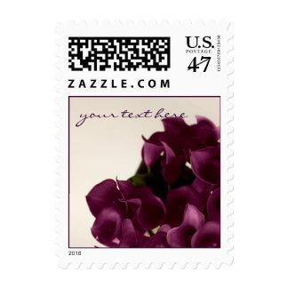 PixDezines Burgundy Calla Lily/Fall Wedding Postage Stamp