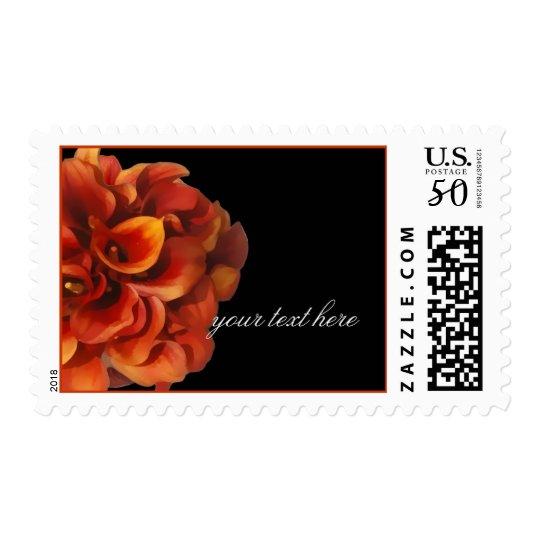 PixDezines Burt Orange Calla Lilies Postage