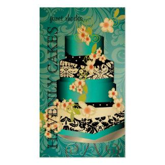 PixDezines Cake Bakery pâtisserie gold stock Business Cards