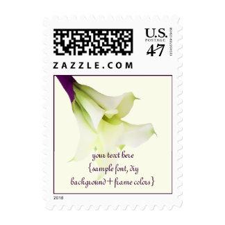 PixDezines Calla Lily Bouquet/Purple Ribbon Postage