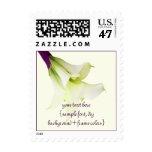 PixDezines Calla Lily Bouquet/Purple Ribbon Stamp