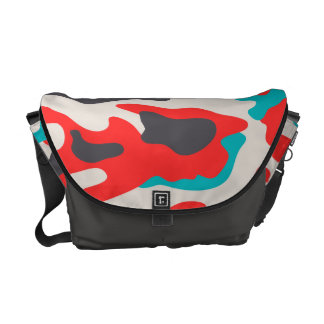 PixDezines Camo/coral+aqua Courier Bag