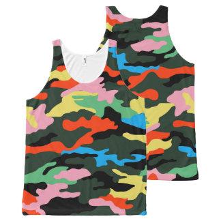 PixDezines Camo, Flashy Neon All-Over-Print Tank Top