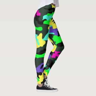 PixDezines Camo, Flashy Neon Leggings