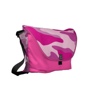 PixDezines Camo/sassy pink Messenger Bag
