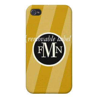 PixDezines Candy Stripes, Custom Color ♥♥♥♥ iPhone 4/4S Case