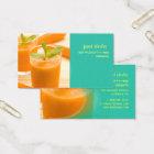 PIXDEZINES CARROT JUICE/JUICE BAR BUSINESS CARD