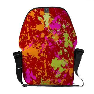 PixDezines Celebration/DIY background colors/red Messenger Bags