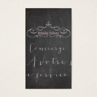 PixDezines chalkboard/concierge/DIY background Business Card