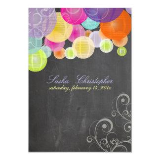 PixDezines chalkboard+fiesta lanterns Card
