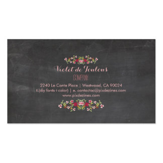 PixDezines Chalkboard+Petite Fleurs Double-Sided Standard Business Cards (Pack Of 100)