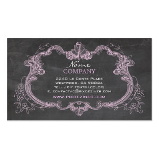 PixDezines chalkboard+rococo frame Double-Sided Standard Business Cards (Pack Of 100)