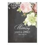 PixDezines chalkboard/rococo/vintage roses 5x7 Paper Invitation Card