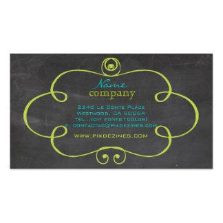 PixDezines chalkboard+scrolls frame Double-Sided Standard Business Cards (Pack Of 100)