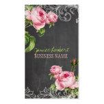 PixDezines chalkboard+vintage roses Business Card