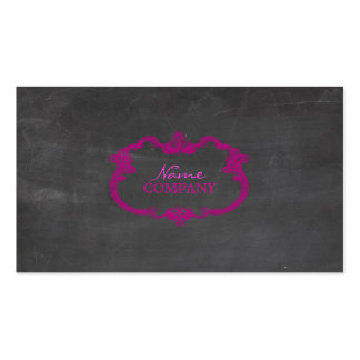 PixDezines chalkboard+whimsy frame Double-Sided Standard Business Cards (Pack Of 100)