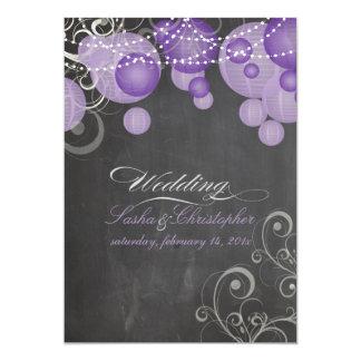 PixDezines chalkdboard+purple lanterns/ Card